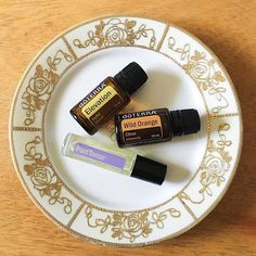Elevation is a great mood elevator.  Wild orange helps to turn off a racing mind.  Past Tense is a go-to for relieving head tension.  Great little trio of doTerra essential oils.