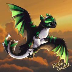 By nightfury nightfurytoothless nightlight httyd howtotrainyourdragonedit httydhiddenworld hiddenworld krokmou Httyd Dragons, Dreamworks Dragons, Cute Dragons, Httyd 3, Fantasy Creatures, Mythical Creatures, Toothless Dragon, Baby Toothless, Night Fury Dragon
