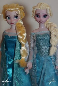 Disney Frozen Repainted Dolls | The Mary Sue