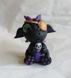 Baby Pirate Dragon by BittyBiteyOnes on Etsy