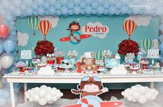 1st Birthday Boy Themes, Baby Birthday, First Birthday Parties, Birthday Decorations, First Birthdays, Airplane Baby Shower, Airplane Party, Car Themed Parties, Akira