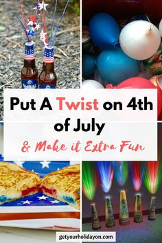 Looking for ideas to put a twist on your of July and make it extra fun? Check out these extra fun ideas that will put an interesting twist on your special Independence Day celebration. Holiday Traditions, Family Traditions, 4th Of July Party, Fourth Of July, Holiday Parties, Holiday Fun, Holiday Ideas, July Crafts, Veterans Day