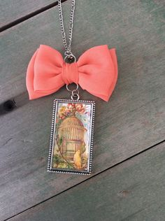 Sweet Bird Cage Necklace/Victorian/Cottage Chic/Whimsical by TheOmbrePoodle on Etsy