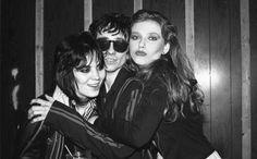 Joan Jett, Stiv Bators, & Bebe Buell at the Whisky a go go (photo by Donna Santisi)