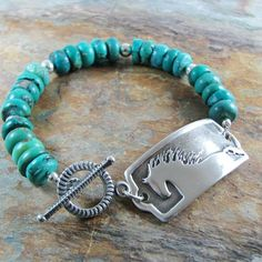 Southwestern Horse Jewelry Silver and Turquoise by SilverWishes, $95.00