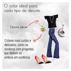 """O colar Ideal para cada tipo de Decote 02"" by jamary-alves on Polyvore featuring moda, Chicwish, Sonia Rykiel, Gorjana e Carrera y Carrera"