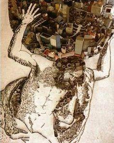 Atlas, d'après Guercino Vik Muniz ( Brasil, 1961)