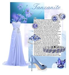 """Tanzanite"" by kristina-kazlauskaite ❤ liked on Polyvore featuring Malaika, Allura and Manolo Blahnik"