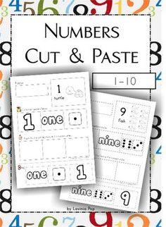 Numbers Cut & Paste (1-10) FREE