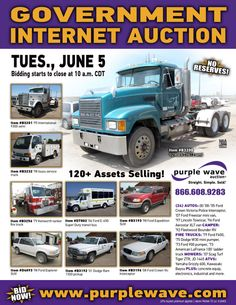 Government Auction  June 5, 2012  http://purplewave.co/120605