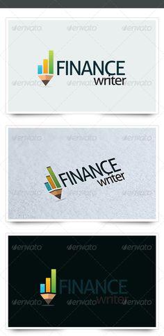 Finance Writer logo for sale just 29$