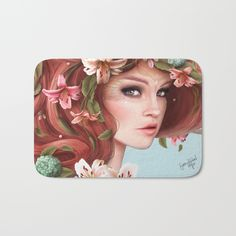 Spring Bath Mat by Sara Isabe Hoyos. Worldwide shipping available at Society6.com. Just one of millions of high quality products available.
