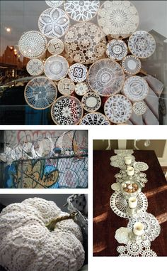 Unusual display ideas for lace doilies