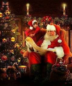 ✴Buon Natale e Felice Anno Nuovo✴Merry Christmas and Happy New Year✴ Christmas Scenes, Father Christmas, Santa Christmas, Christmas Pictures, All Things Christmas, Vintage Christmas, Christmas Quotes, Christmas Colors, Santa Claus Is Coming To Town