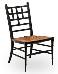 MANNER OF EDWARD WILLIAM GODWIN AESTHETIC MOVEMENT SIDE CHAIR, CIRCA 1880