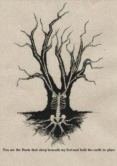 It's where my demons hide Illustrations, Illustration Art, Conor Oberst, Skull And Bones, Tree Of Life, Macabre, Dark Art, Body Art, Art Drawings