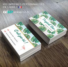 Carte De Visite Tropicale Pour Un Bar Decouvrez Tous Nos Modeles Supports Communication