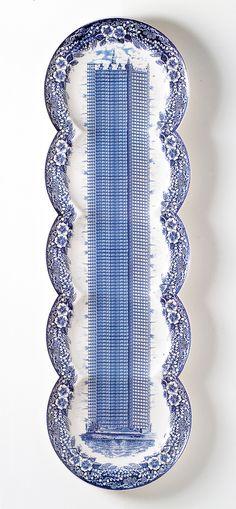 Plate by Maxime Ansiau Ceramic Clay, Ceramic Plates, Ceramic Pottery, Blue And White China, Blue China, Creative Inspiration, Design Inspiration, Mood Images, Custom Plates