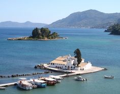 The famous Mouse Island of Corfu! You can get a boat to Mouse Island, or Pontikonisi, from Vlaharna, the furthest tip of Kanoni. The island's only building is the Byzantine church of Pantokrator, built in the 11th or 12th century.