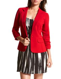 Maybe try this blazer with cream and black for the big fall trend?