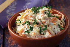 Λαχανοσαλάτα με μαγιονέζα (Coleslaw) | Συνταγή | Argiro.gr Food Categories, Coleslaw, Greek Recipes, Food Plating, Ratatouille, Food For Thought, Thai Red Curry, Potato Salad, Mashed Potatoes