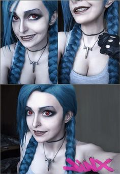 Jinx-cosplay by Rosalia-Lombardo on deviantART dokonalý makeup