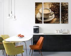 #Leinwandbild No.CG76 Coffee Scents Triptychon II #kaffee #Genuss #coffee #time