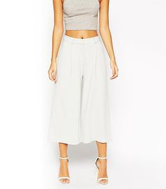 Tailored Culottes via @WhoWhatWear