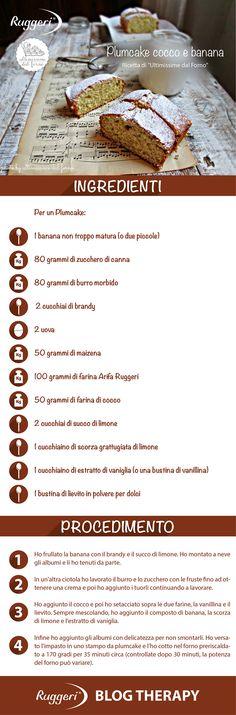Ricetta per plumcake cocco e banana, con farina biologica Arifa Ruggeri. www.ruggerishop.it www.arifa.it http://ultimissimedalforno.blogspot.it