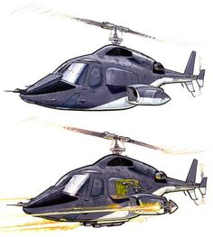 shows Airwolf weapons deployment