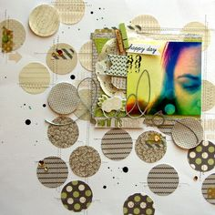 The ombre circles ¦ colour effect photo ¦ layering ¦ 'Hello world' by Nicole Nowosad