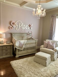 Baby Girl Nursery Ideas That Are So Dreamy Girl Nursery Ideas – Bring your child girl home to an adorable as well as functional nursery. Below are some baby girl nursery design ideas for every one of your decor, bed linens, as well as furniture … Baby Bedroom, Baby Room Decor, Girls Bedroom, Baby Rooms, Bedrooms, Baby Girl Bedroom Ideas, Nursery Room Ideas, Baby Girl Room Themes, Girl Nursery Colors