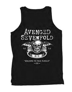 Avenged Sevenfold Welcome To The Family Mens Tank T-Shirt - Guaranteed Authentic.  Fast Shipping.