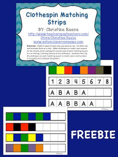 Autism Classroom News: http://www.autismclassroomnews.com    Clothespins in the Classroom:{FREEBIE }Setting up Classrooms for Students with Autism-Materials  by Autism Classroom News: http://www.autismclassroomnews.com