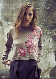 Laura Helen Searle - love the hand embroidery on a sweater