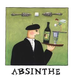 Market Day Collection - Absinthe  - The little green fairy in a glass making magic.