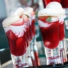 Strawberry Meringue Desserts Shooters