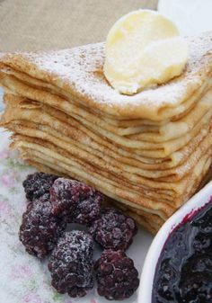 Grain-Free French Crepes - the ultimate treat to grain-free cooking. Made with cassava flour and real food ingredients. If eliminating dairy, omit butter and substitute with coconut oil. Best Crepe Recipe, Crepe Recipes, Paleo Dessert, Dessert Recipes, Gluten Free Breakfasts, Gluten Free Desserts, Betty Crocker, Cassava Flour Recipes, Sweet Crepes Recipe