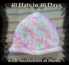 Sunflowers At Home: 40 Hats in 40 Days week 3