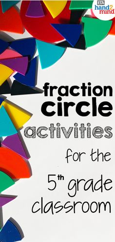 Fraction circles are the perfect manipulates for students to explore fractions.  Use them for hands-on learning to introduce equivalent fractions, comparing fractions, mixed numbers, and even adding, subtracting, multiplying and dividing fractions.  Use them with task cards for independent student practice, or as part of your small group instruction.  Fraction circles help students recognize that fractions fit together to form a whole circle.  Use dry erase markers on the circles so students can Comparing Fractions, Dividing Fractions, Equivalent Fractions, Math Rotations, Math Centers, Math Games, Math Activities, Independent Student, 5th Grade Classroom