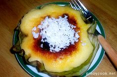 BIBINGKA - rice cake topped with grated coconut