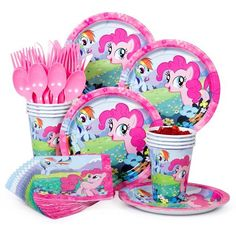 $7.90 My Little Pony Standard Kit (Serves 8) - Decoration Kits & other Decorations from Birthday in a Box