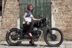 "#MotoGuzzi NTX ""Raw Tam"" Bobber"