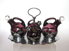Farber Chrome & Cambridge Amethyst Glass by cheshirecatantiques, $115.00