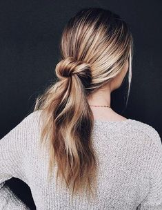 Knot with Ponytail Hairstyles Ideas for Summer 2018