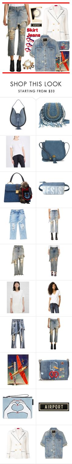 """""""Skirt Jeans"""" by yours-styling-best-friend ❤ liked on Polyvore featuring Altuzarra, R13, Nanette Lepore, Miu Miu, MANGO, Marmont Hill, Dsquared2, Lulu Guinness, The Gigi and Orla Kiely"""