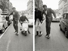 Clint Eastwood skating through Rome in 1964.