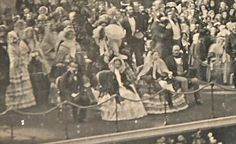 Napoleon III , Queen Victoria, Empress Eugenie and Prince Albert at the Crystal Palace, 20 April 1855.