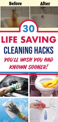 These smart household cleaning tips will help you to get a clean house easy and fast. These cleaning hacks are simply the best to get a clean home naturally and easy using all-natural cleaners. Borax Cleaning, Household Cleaning Tips, Cleaning Recipes, House Cleaning Tips, Deep Cleaning, Cleaning Hacks, Kitchen Cleaning, Bathroom Cleaning, Bathroom Organization