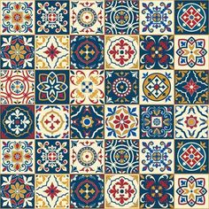 Purchase Gorgeous White Colorful Moroccan Portuguese Tiles Azulejo Ornaments Pattern Fills Wall Art Hanging Tapestry inch from Hedda Stan on OpenSky. Moroccan Fabric, Moroccan Tiles, Moroccan Decor, Moroccan Pattern, Moroccan Bedroom, Moroccan Interiors, Turkish Pattern, Turkish Tiles, Portuguese Tiles